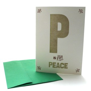 P is for Peace