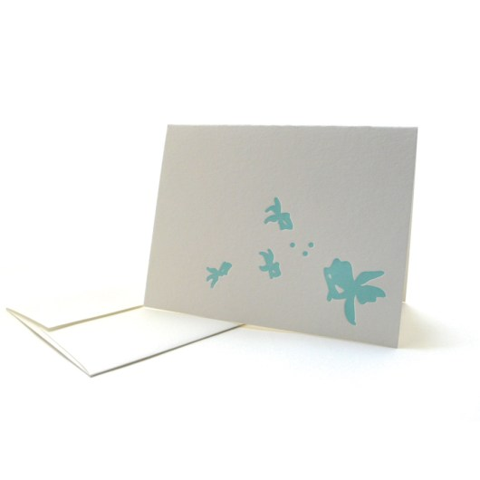Pattern Note Cards – Blue Goldfish