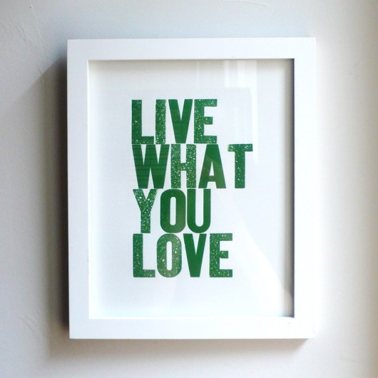 Live What You Love 8x10 Hunter Green