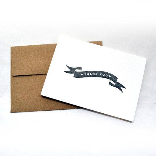 Banner Thank You Cards Black