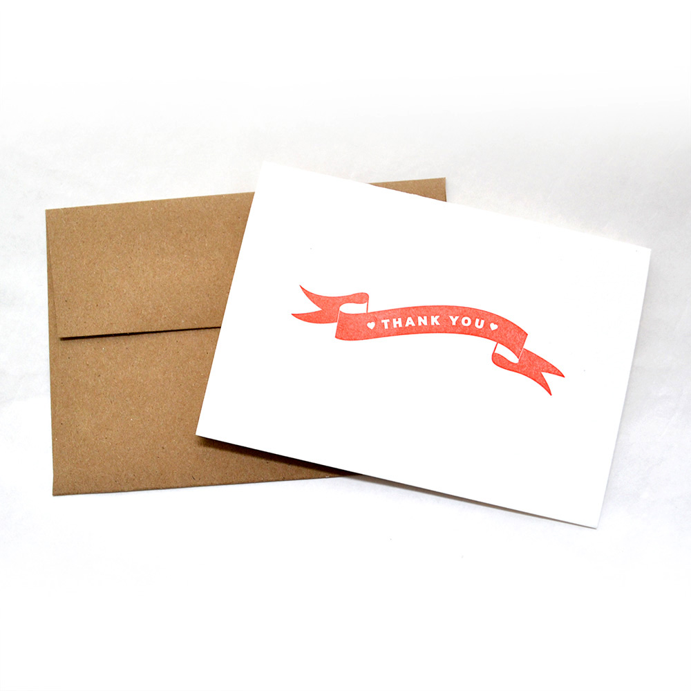 banner thank you cards red heartfish press