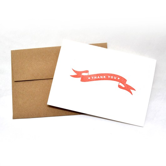 Banner Thank You Cards Red