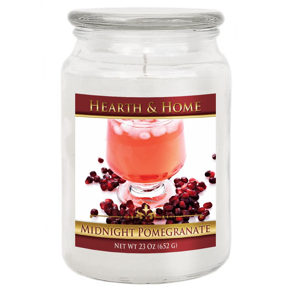 Midnight Pomegranate - Large Jar Candle
