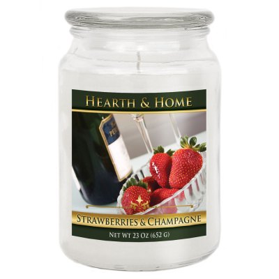 Strawberries & Champagne - Large Jar Candle