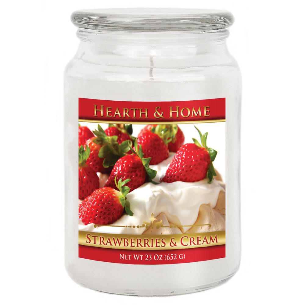 Strawberries & Cream - Large Jar Candle