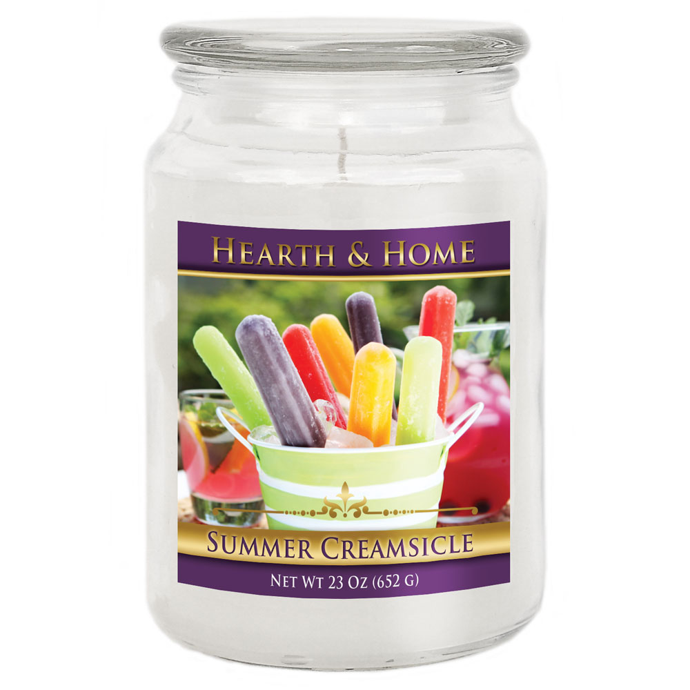 Summer Creamsicle - Large Jar Candle