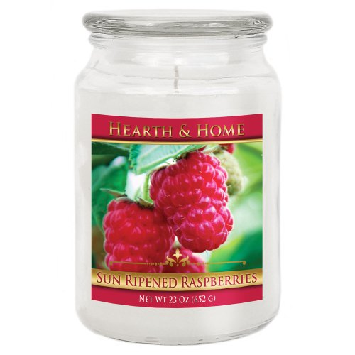 Sun Ripened Raspberries - Large Jar Candle