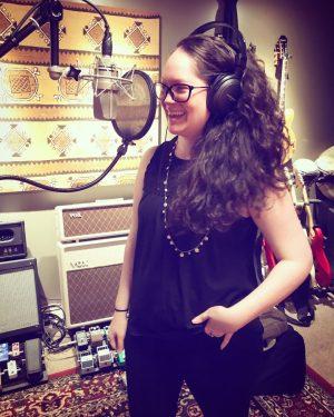 Terra having fun in the studio