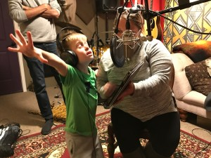 Treyden belting out the chorus for hearthehope.org