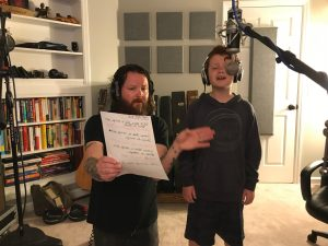 Jody recording with Hear The Hope