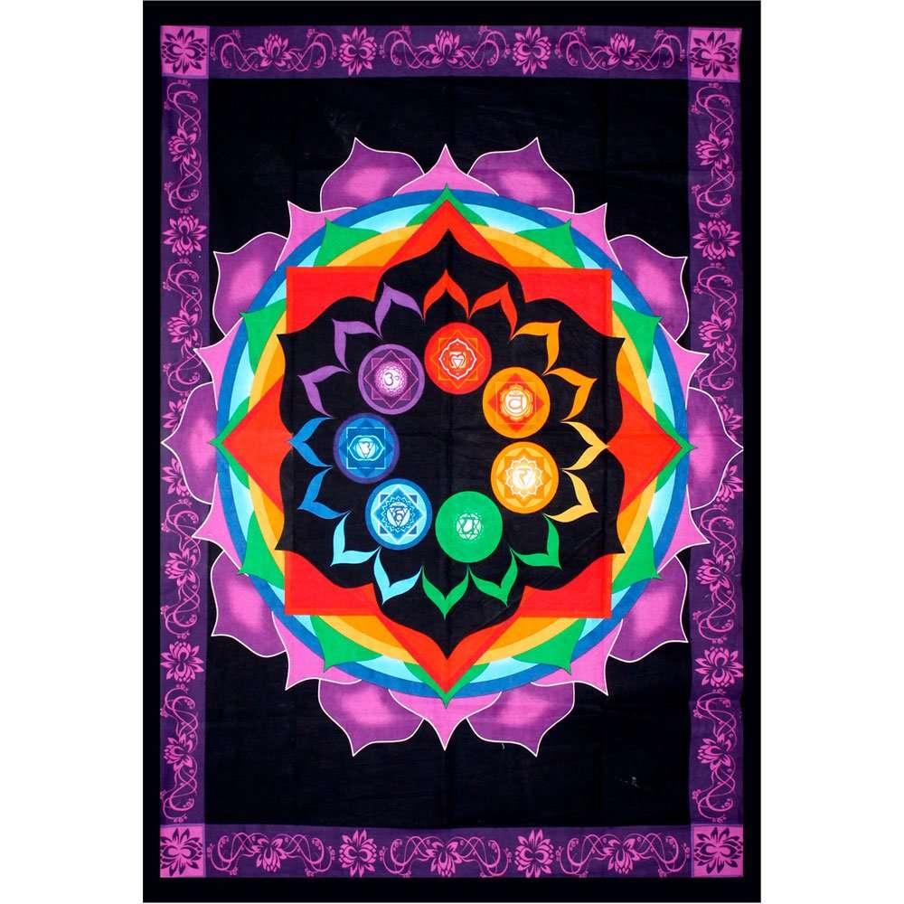 Rainbow Chakra Tapestry