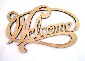 Welcome Sign-maple