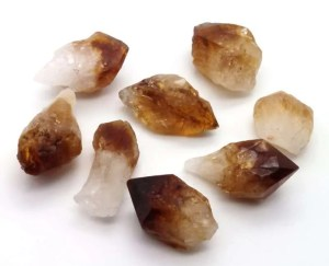 Rough citrine points.