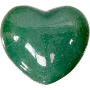 Carved gemstone heart - green aventurine.