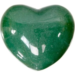 Carved gemstone heart - green aventurine.
