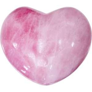 Carved gemstone heart - rose quartz.