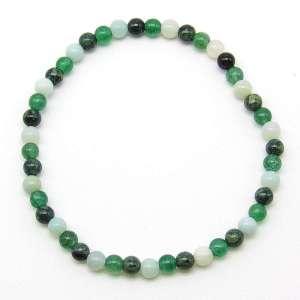 Amazonite, Kambaba jasper, green aventurine 4mm bead bracelet.