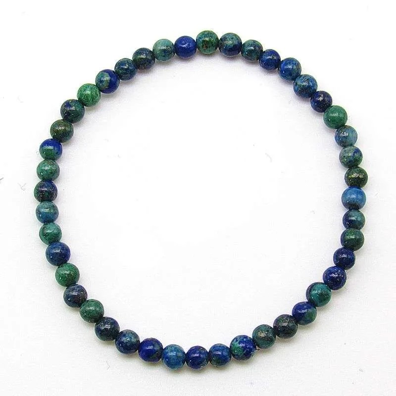 Chrysocolla 4mm bead bracelet.