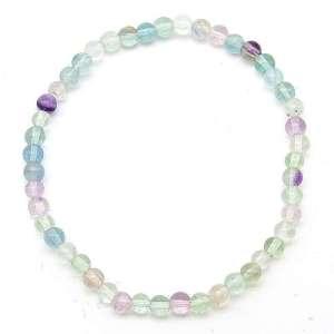 Fluorite 4mm Bead Bracelet