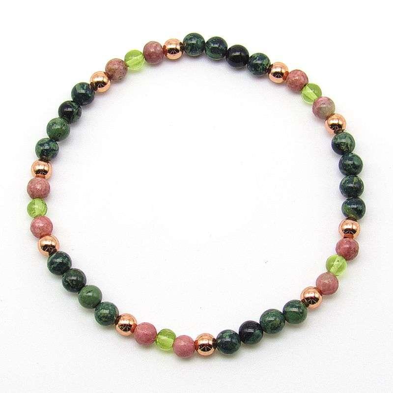 4mm chakra bead bracelet - heart chakra