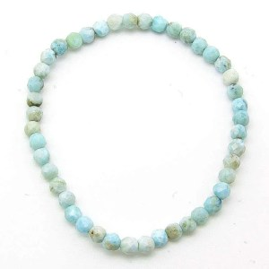 Larimar 4mm faceted bead bracelet