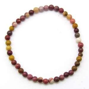 Mookaite jasper 4mm bead bracelet