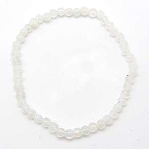 Rainbow moonstone 4mm bead bracelet.