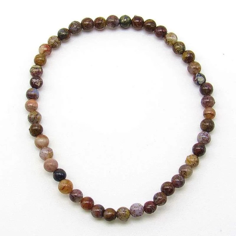 Pietersite 4mm bead bracelet.