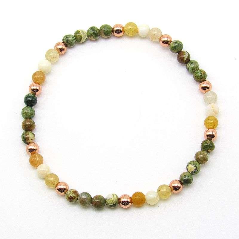 4mm chakra bead bracelet - solar plexus chakra