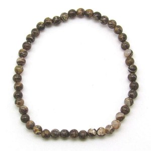 Turritella agate 4mm bead bracelet.