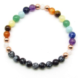9 chakra 6mm bead bracelet.