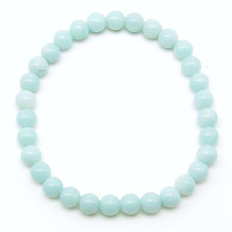 Amazonite 6mm bead bracelet.