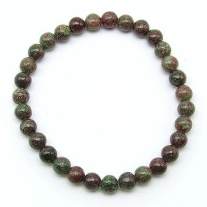 Kashgar garnet 6mm bead bracelet