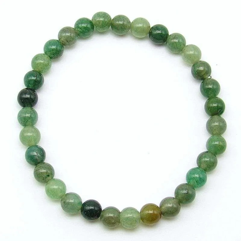 Green aventurine 6mm bead bracelet