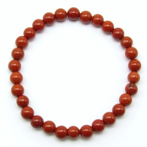 Red jasper 6mm bead bracelet