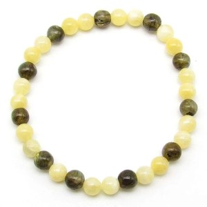 Labradorite and yellow calcite 6mm bead bracelet