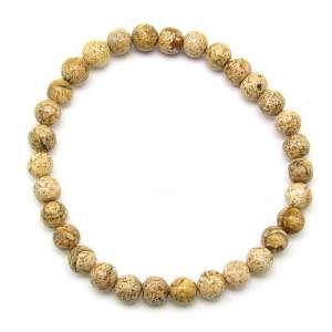 Picture jasper 6mm bead bracelet