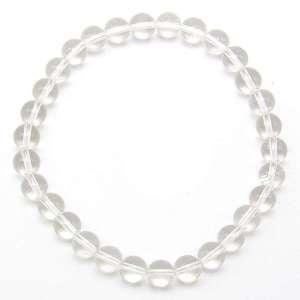 Clear quartz 6mm bead bracelet