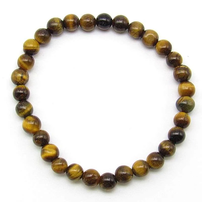 Tiger's eye 6mm bead bracelet
