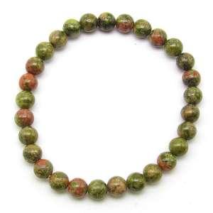 Unakite 6mm bead bracelet