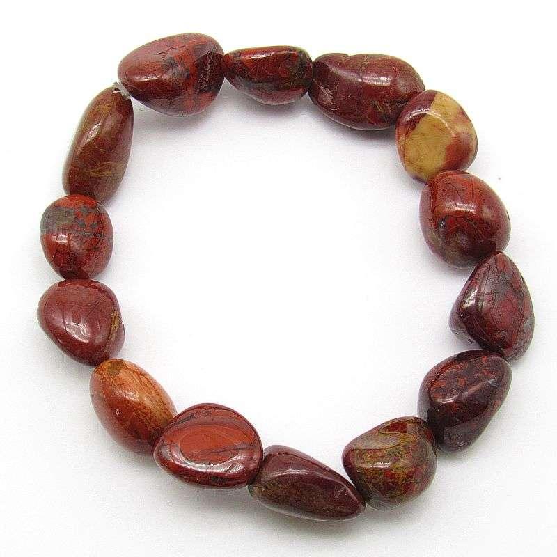 Brecciated jasper tumbled stone bracelet