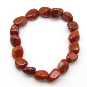 Red Jasper tumbled stone bracelet