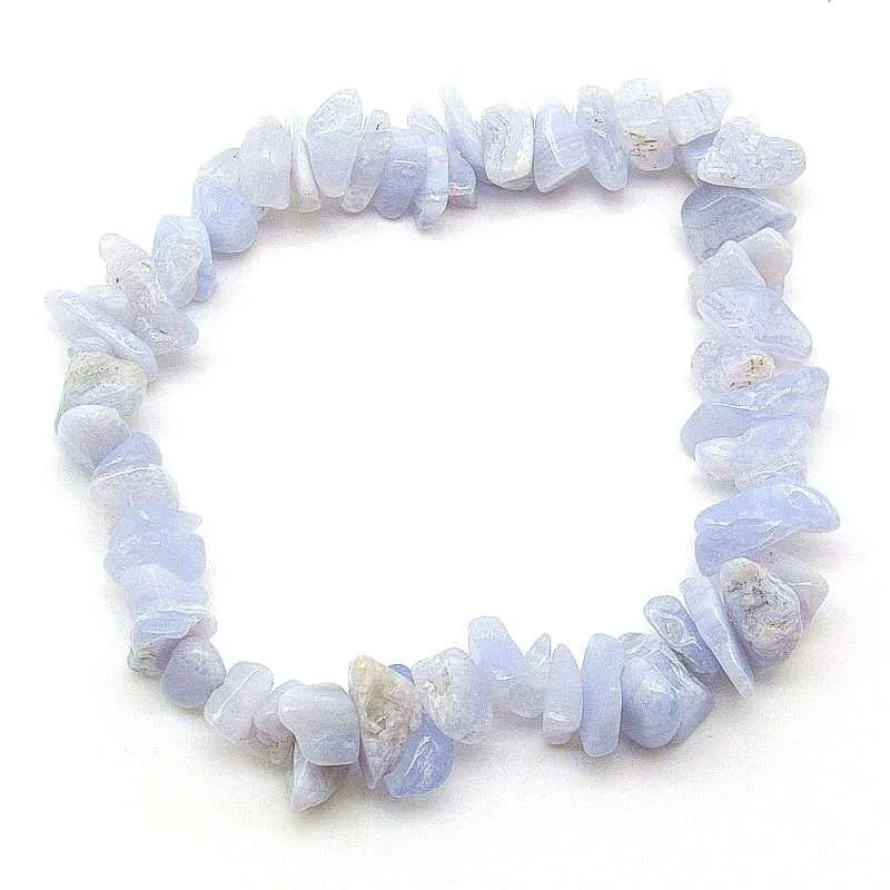 Blue lace agate chip bracelet.