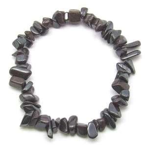 Hematite chip bracelet.