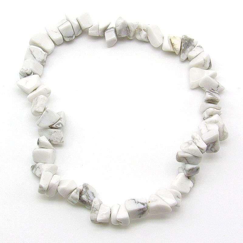Howlite chip bracelet.