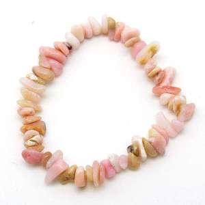 Pink opal chip bracelet.