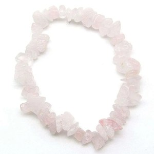 Rose quartz chip bracelet.