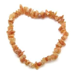 Sunstone chip bracelet.