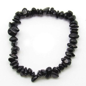 Black tourmaline chip bracelet.