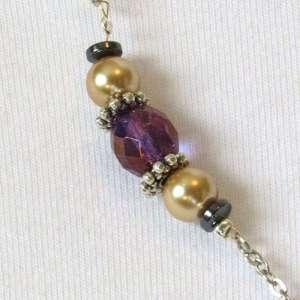 Obsidian & snow quartz decorative chain closeup
